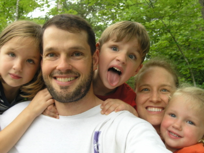 The Milligan Family shortly after Kristen's diagnosis