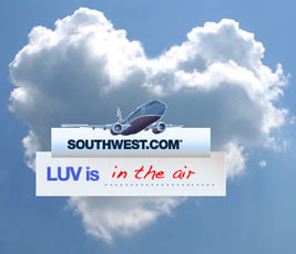 Southwest Airlines Luv in the air