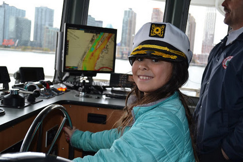 Karina was an honorary captain on her boat cruise around Manhattan on her Legacy RetreatⓇ
