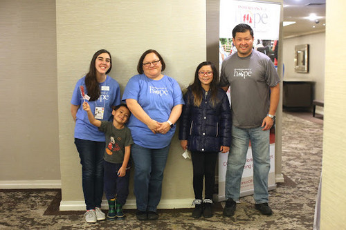 Inheritance of Hope family! Seiji, Karina, and Oliver visited their volunteers, Dena and Anna, at our 2017 NYC Legacy RetreatⓇ